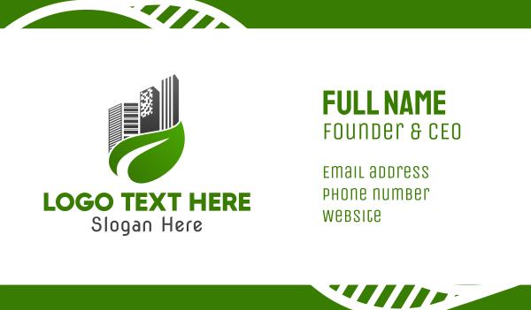 green city - Leaf City Business card horizontal design