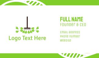 Gardening Rake Business Card
