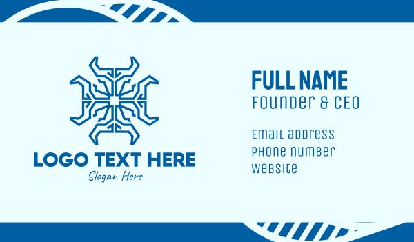 priest - Blue Spiritual Cross  Business card horizontal design