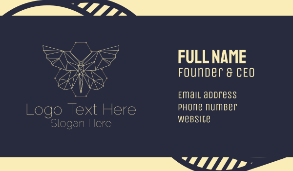 beehive - Butterfly Beehive Hive Business card horizontal design