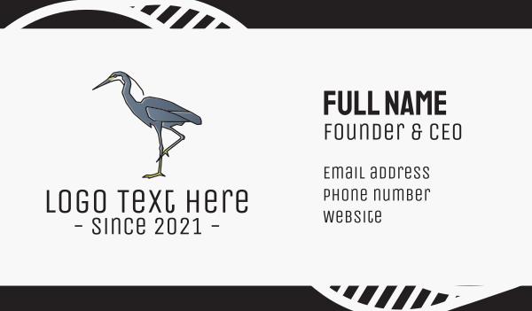 heron - Heron Bird Business card horizontal design