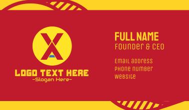 Digital Gaming Monogram X & A Business Card