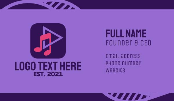 choir - Music Streaming App Business card horizontal design