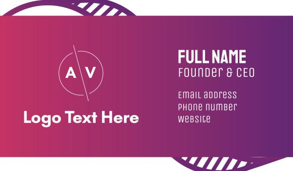 av - Modern AV Badge Business card horizontal design