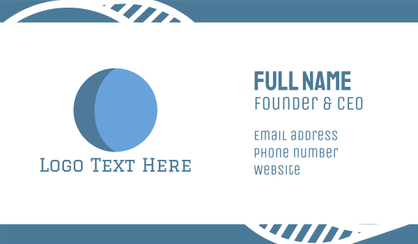 blue circle - Blue Moon Business card horizontal design