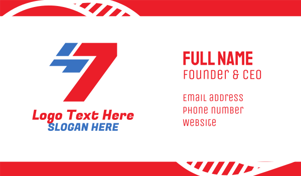 seventh - Racing Tech Number 7 Business card horizontal design