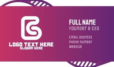 Modern Letter B  Business Card
