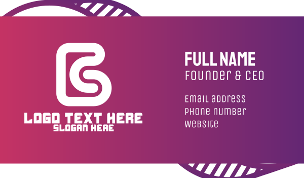 subliminal - Modern Letter B  Business card horizontal design