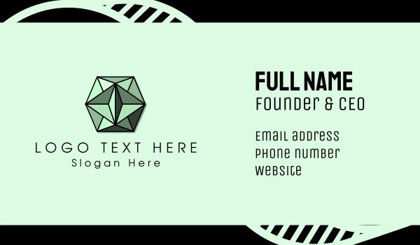 green diamond - Green Gem Business card horizontal design