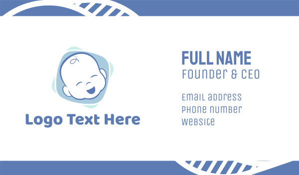 boy and girl - Baby Boy Business card horizontal design
