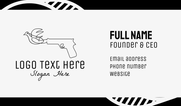 pistol - Bird Gun Business card horizontal design