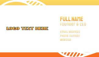 Orange Industrial Wordmark Business Card