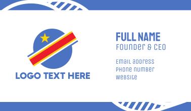 Congo Planet Flag Business Card