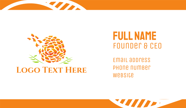 marigold - Marigold Flower Business card horizontal design