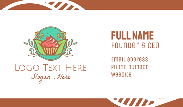 arrangement - Pastry Cupcake Cake Business card horizontal design