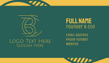 B & C Designer Monogram Business Card