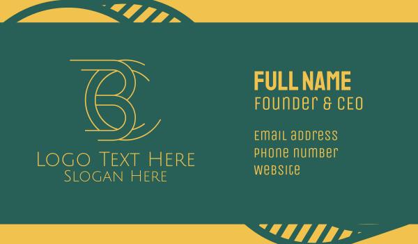 bc - B & C Designer Monogram Business card horizontal design