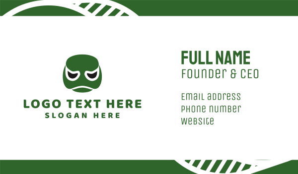 green turtle - Turtle Face Business card horizontal design