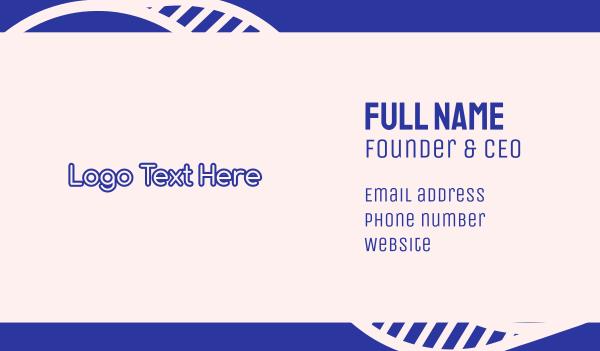 purple girl - Purple Outline Text Business card horizontal design