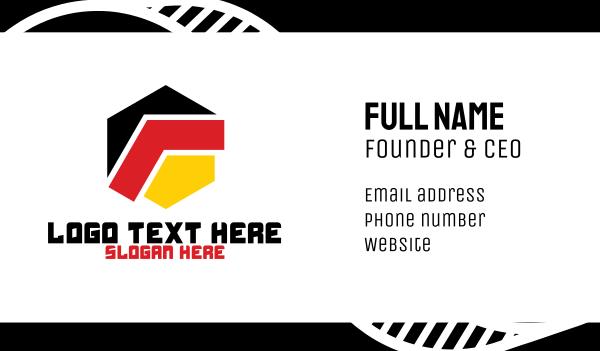 german - Modern Germany Hexagon Business card horizontal design