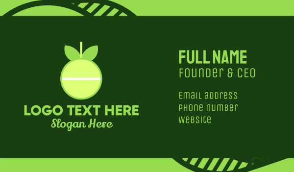 lime - Vitamin C Pill Business card horizontal design