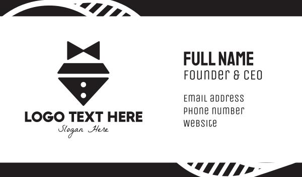 waiter - Diamond Bow Tie Business card horizontal design