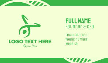 Green Yoga Instructor Business Card