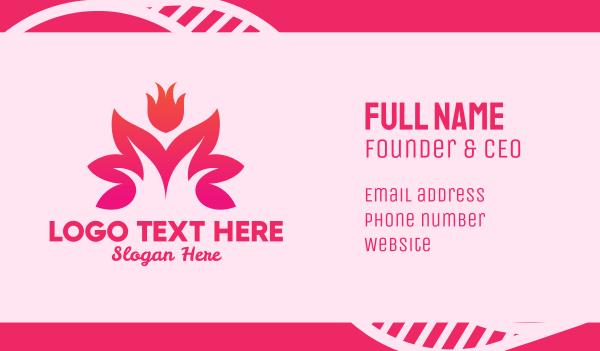 blossom - Lotus Flower Spa & Wellness Business card horizontal design