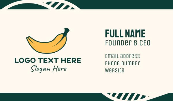 healthy food - Fresh Yellow Banana Business card horizontal design