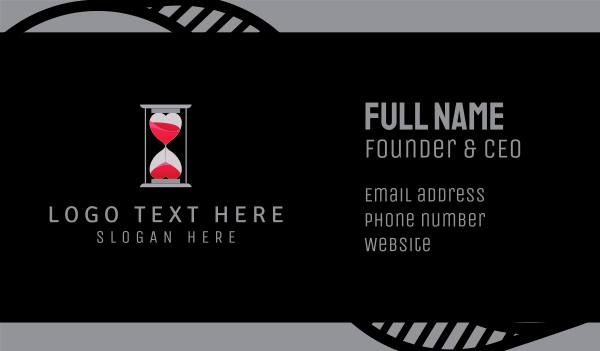 wedding - Love Time Business card horizontal design