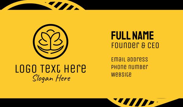 hornet - Black Yellow Anchor  Business card horizontal design