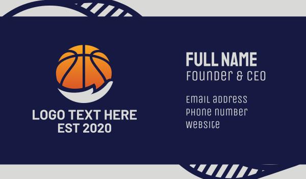 sporting event - Basketball Hand Business card horizontal design