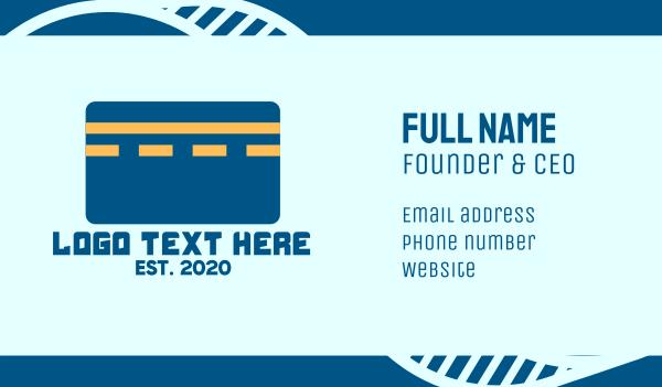 credit card - Road Credit Card Business card horizontal design