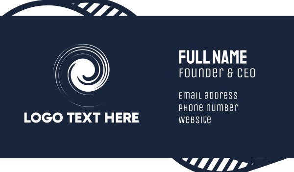 portal - White Spiral Business card horizontal design