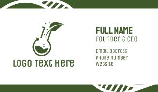 Green Laboratory Leaf Business Card