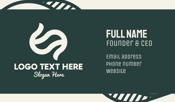 merchandise - White Swish Letter S Business card horizontal design