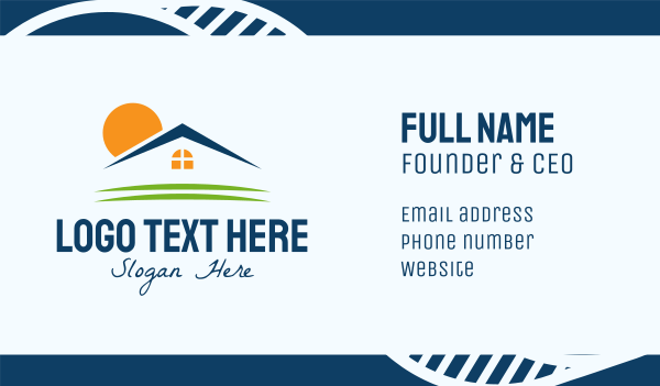 roofing service - Sunrise Home Realty Business card horizontal design
