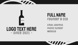 Wine Bottle Speech Bubble Business Card