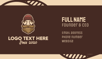 Hipster Old Man Business Card