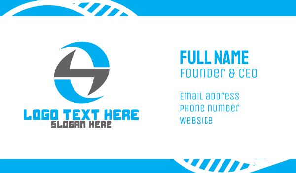 spinning - Monogram G  Business card horizontal design