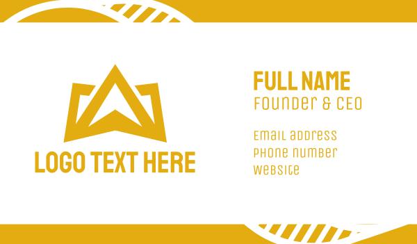 mark - Gold Crown Mountain Business card horizontal design