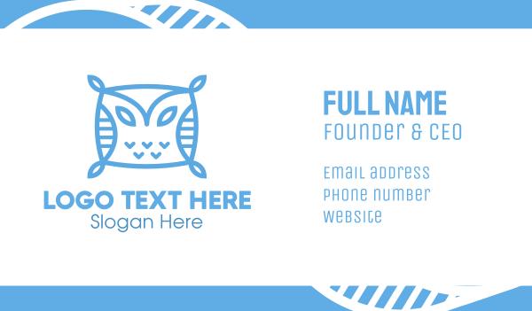blue owl - Blue Owl Pillow Business card horizontal design