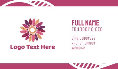 Pink Flower Potpourri Business Card