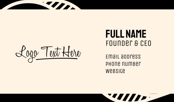 mark - Script Wordmark Business card horizontal design