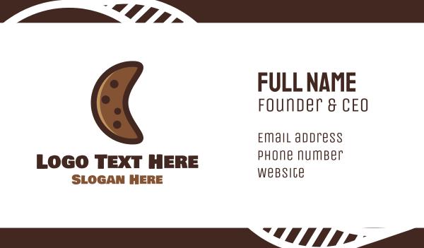 biscuit - Cookie Moon Business card horizontal design