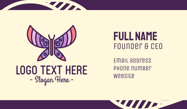cute - Pastel Beautiful Butterfly Business card horizontal design