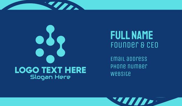 Blue Tech Company Business Card