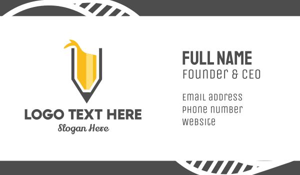 copywriting - Yellow Pencil Splash Business card horizontal design