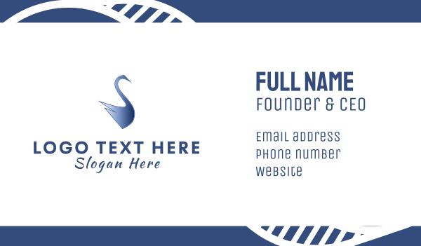 blue duck - Blue Swan Business card horizontal design