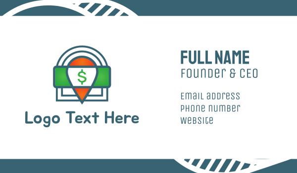 dollar - Cash Locator Business card horizontal design